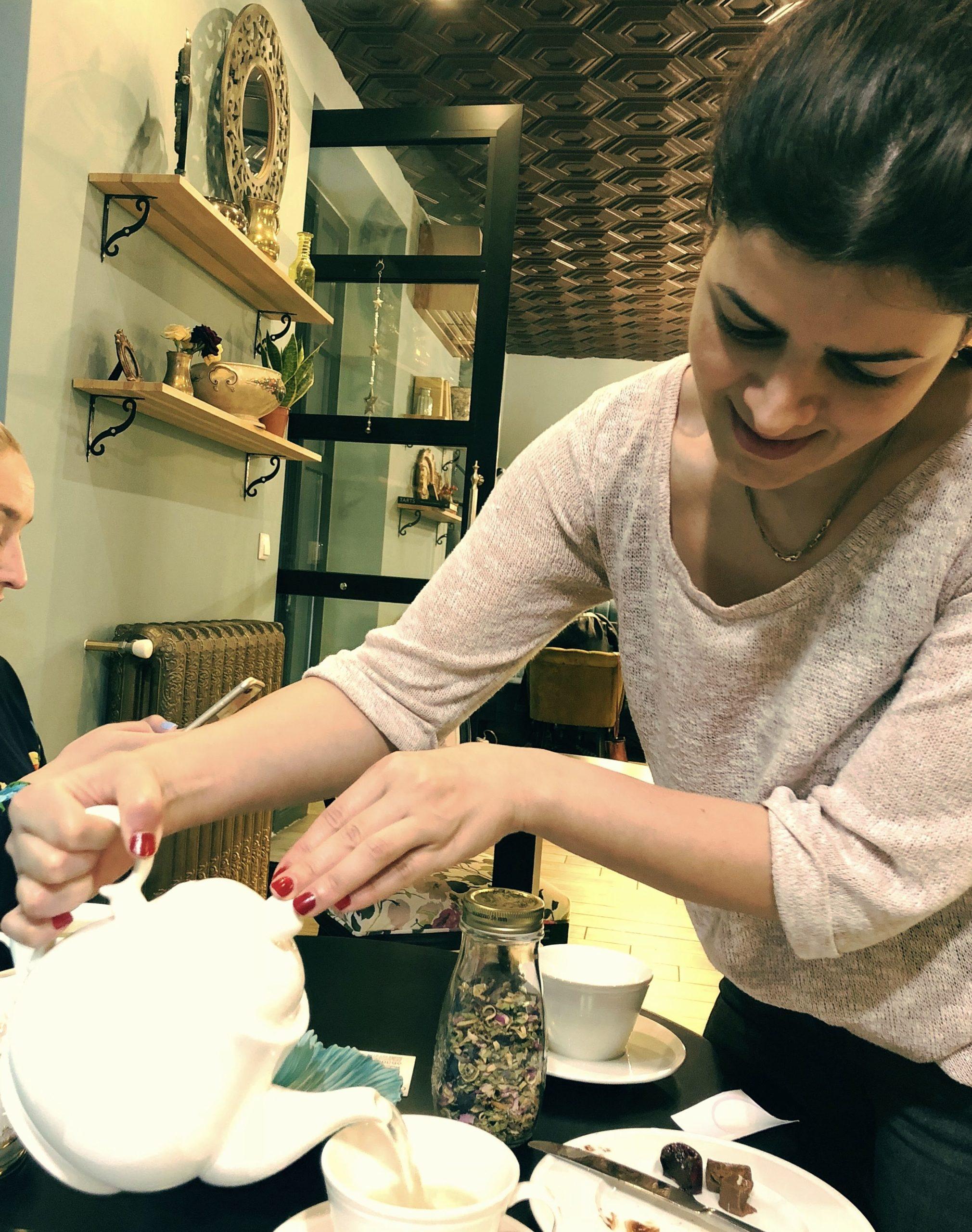 Tea brewing ceremony